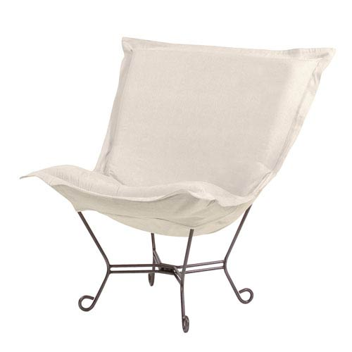 Sterling Sand 40-Inch Puff Chair with Titanium Frame