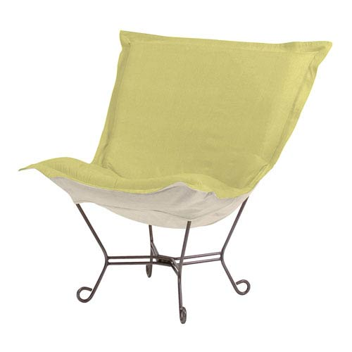 Howard Elliott Collection Sterling Willow 40-Inch Puff Chair with Titanium Frame