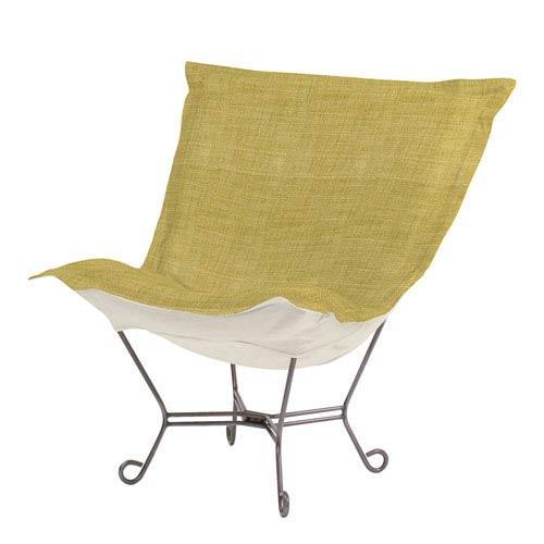 Coco Peridot 40-Inch Puff Chair with Titanium Frame
