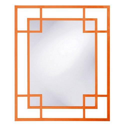 Lois Orange Rectangle Mirror