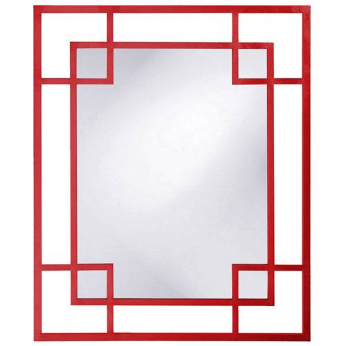 Howard Elliott Collection Lois Red Rectangle Mirror