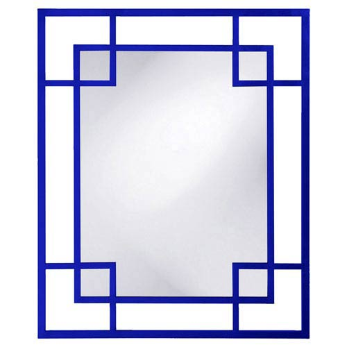 Lois Royal Blue Rectangle Mirror