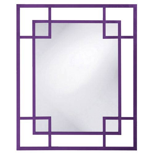 Lois Royal Purple Rectangle Mirror