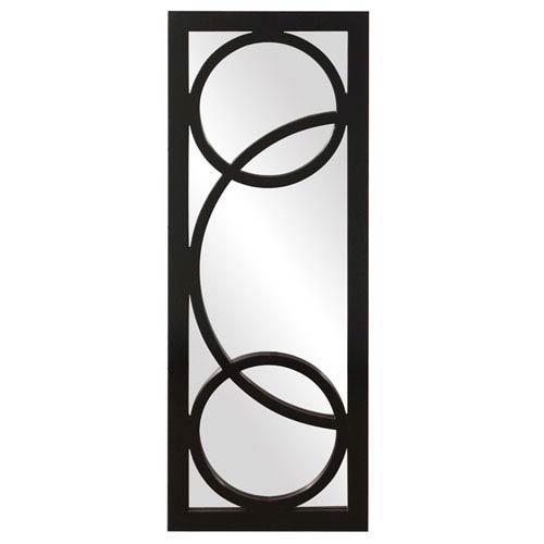 Howard Elliott Collection Dynasty Black 1-Inch Rectangle Mirror