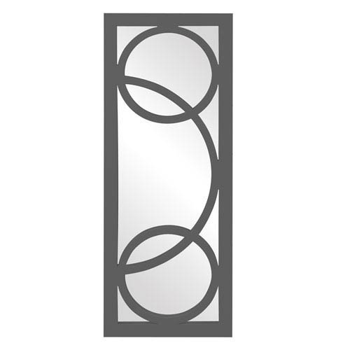 Howard Elliott Collection Dynasty Charcoal Gray Rectangle Mirror