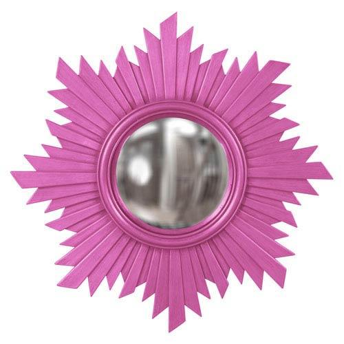 Howard Elliott Collection Euphoria Hot Pink Round Mirror