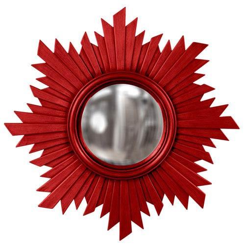 Howard Elliott Collection Serenity Red Round Mirror