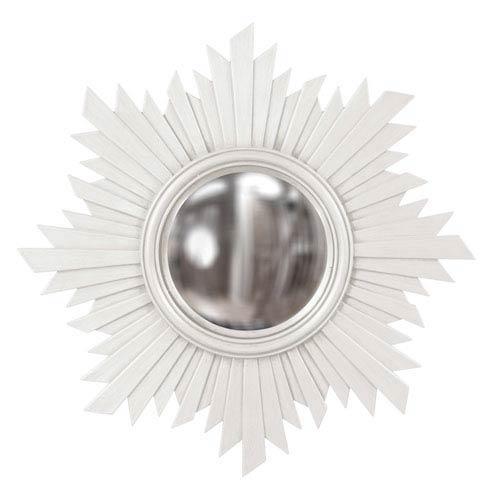 Howard Elliott Collection Euphoria White Round Mirror