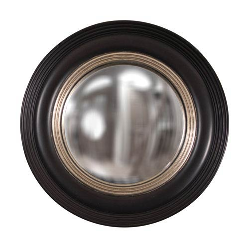 Soho Black and Silver Round Mirror