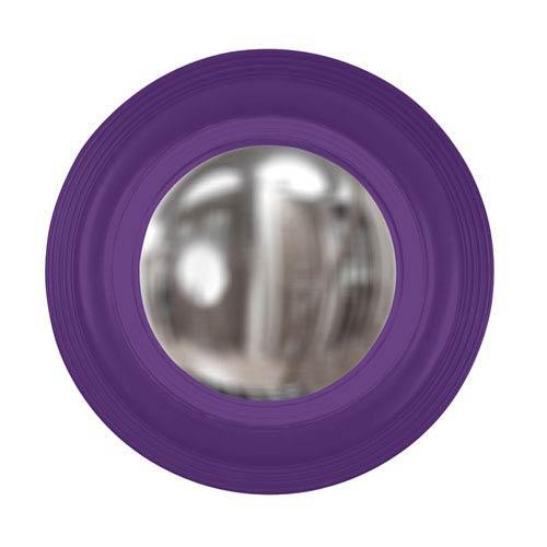 Soho Royal Purple Round Mirror