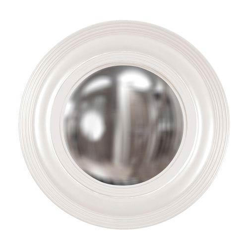 Howard Elliott Collection Soho White Round Mirror
