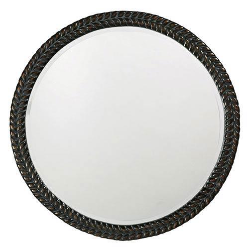 Amelia Antique Black Round Mirror