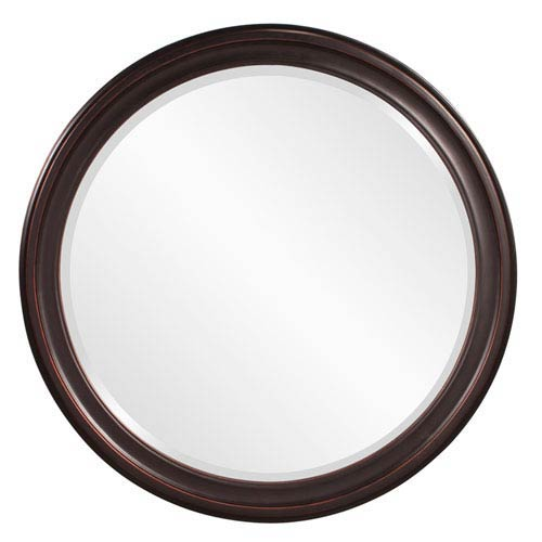 George Oil Rubbed Bronze Round Mirror