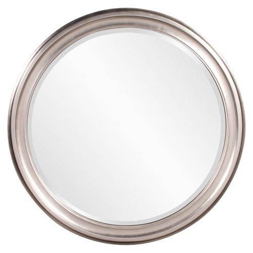 George Brushed Nickel Round Mirror