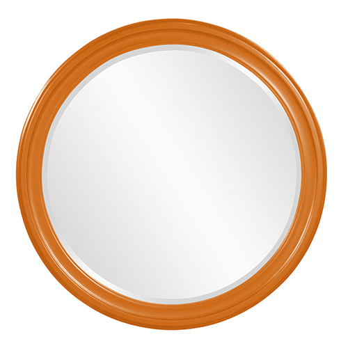 George Glossy Orange Mirror