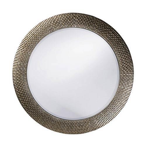 Howard Elliott Collection Bergman Silver Round Mirror - Small