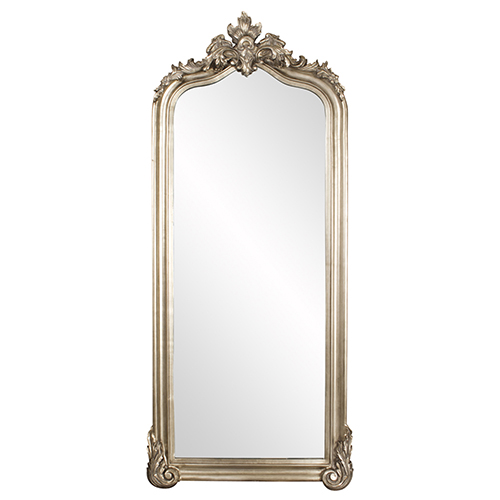 Tudor Silver Floor Mirror