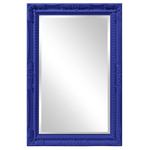 Queen Ann Mirror - Glossy Royal Blue