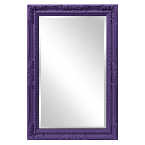 Queen Ann Mirror - Glossy Royal Purple