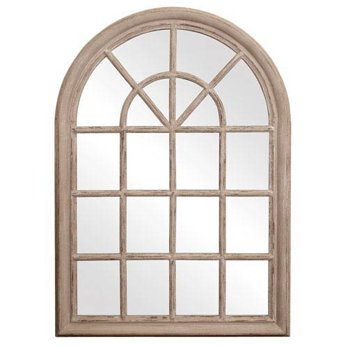 Fenetre Taupe Rectangle Mirror