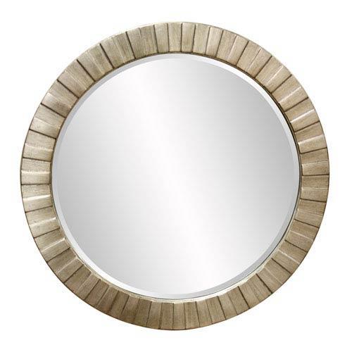 Howard Elliott Collection Serenity Silver Leaf Round Mirror