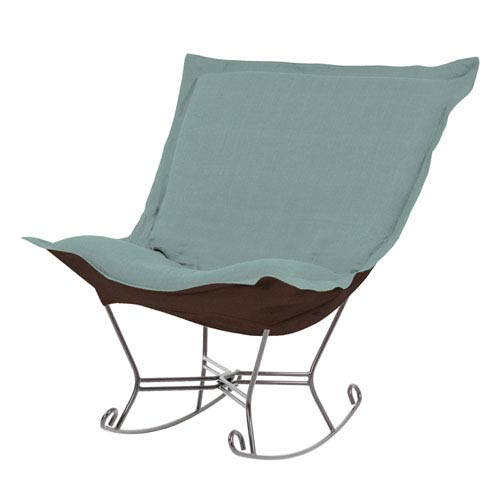 Howard Elliott Collection Sterling Breeze Puff Rocker with Titanium Frame