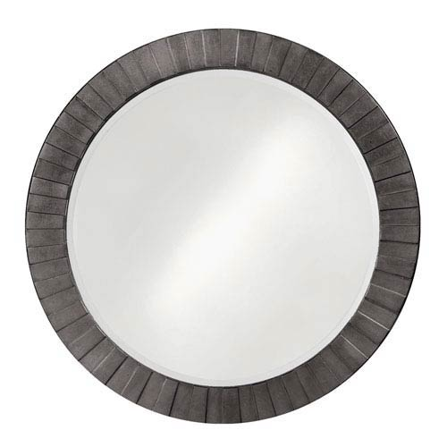 Howard Elliott Collection Serenity Charcoal Gray 1-Inch Round Mirror