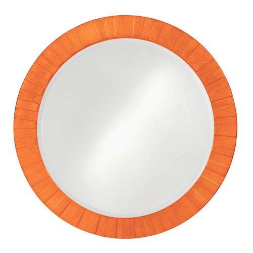Howard Elliott Collection Serenity Glossy Orange Round Mirror