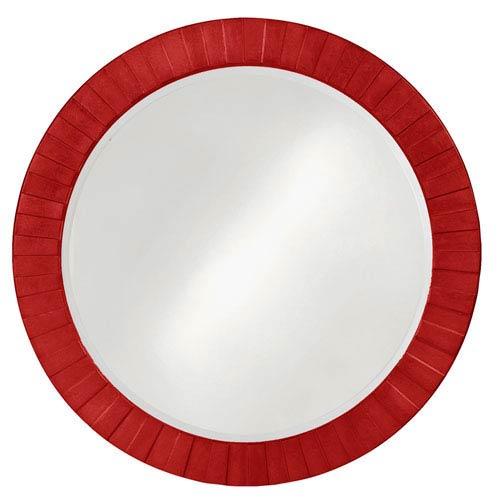 Howard Elliott Collection Hailey Red 1-Inch Round Mirror