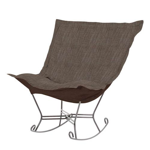 Howard Elliott Collection Coco Slate Puff Rocker with Titanium Frame
