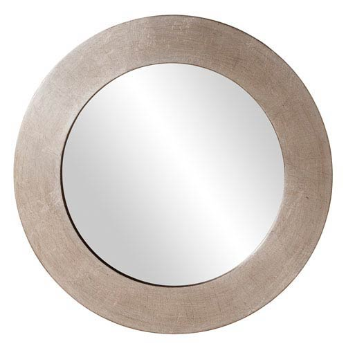 Howard Elliott Collection Sonic Silver Round Mirror