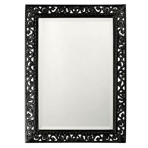 Bristol Glossy Black Rectangle Mirror