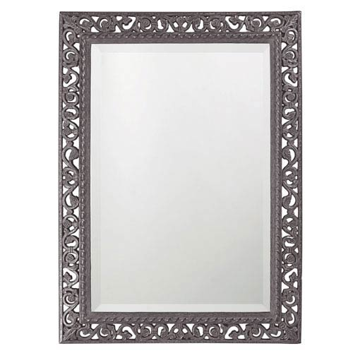 Howard Elliott Collection Bristol Glossy Charcoal Gray Rectangle Mirror