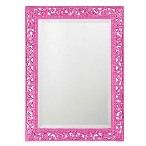 Bristol Glossy Hot Pink Rectangle Mirror