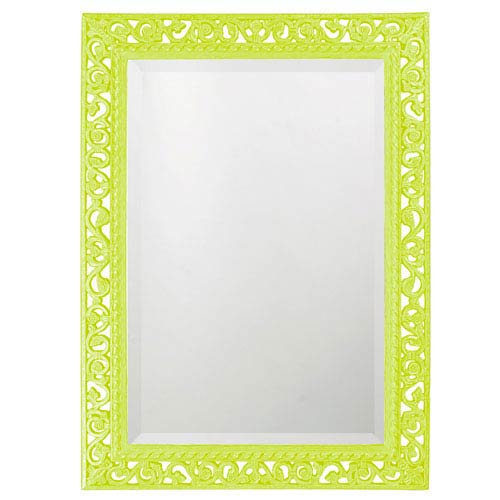 Howard Elliott Collection Bristol Glossy Moss Green Rectangle Mirror
