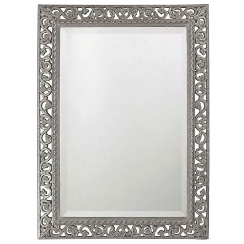 Bristol Glossy Nickel Rectangle Mirror