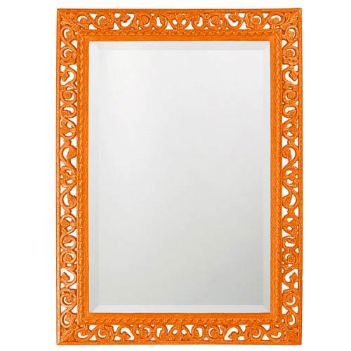 Howard Elliott Collection Bristol Glossy Orange Rectangle Mirror