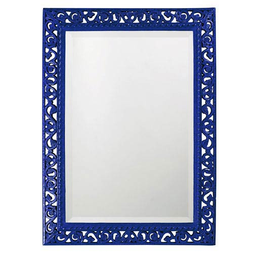 Howard Elliott Collection Bristol Glossy Royal Blue Rectangle Mirror