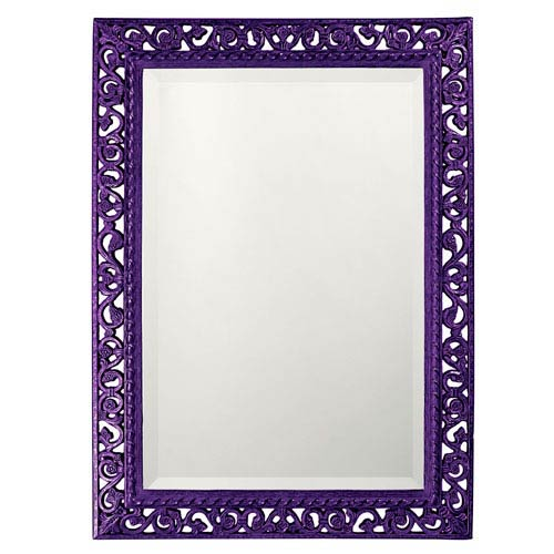 Bristol Glossy Royal Purple Rectangle Mirror