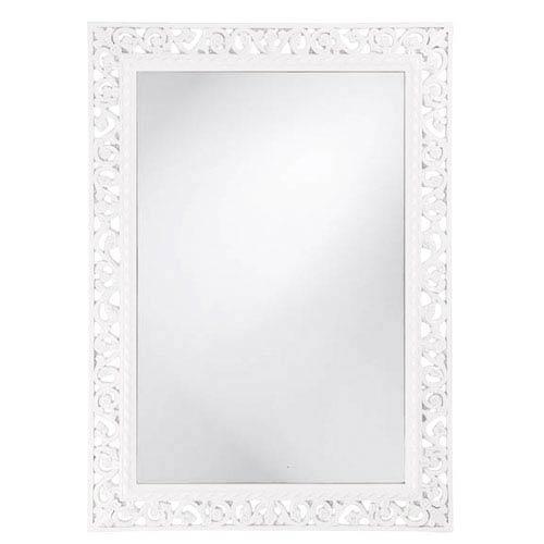 Howard Elliott Collection Bristol Glossy White Rectangle Mirror