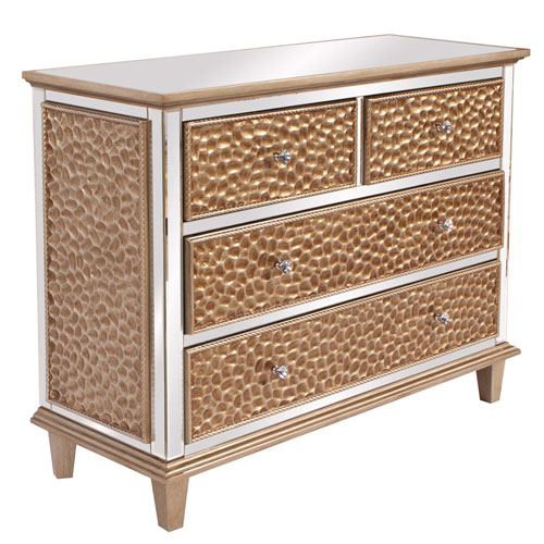 Hammered Dresser with Mirrored Trim