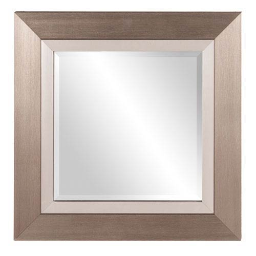 Howard Elliott Collection Brushed Silver Square Mirror