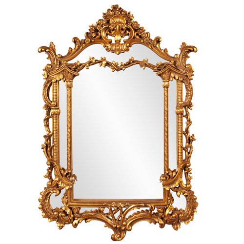 Arlington Gold Arched Baroque Mirror