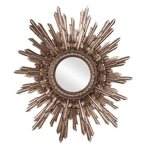 Howard Elliott Collection Chelsea Antique Silver Starburst Round Mirror