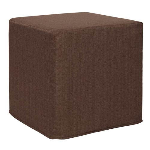 Howard Elliott Collection Sterling Chocolate Tip Block Ottoman