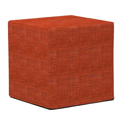 Howard Elliott Collection Coco Coral Tip Block Ottoman