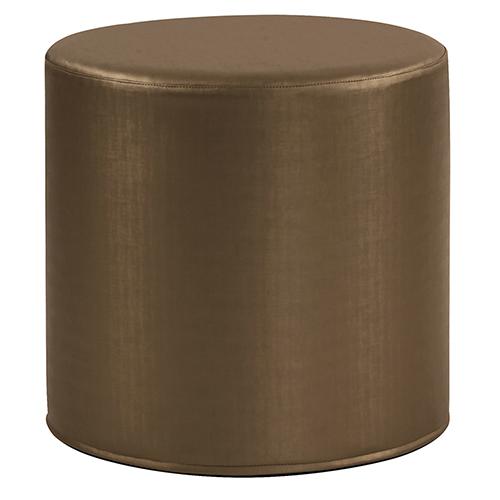 Luxe Bronze No Tip Cylinder Ottoman