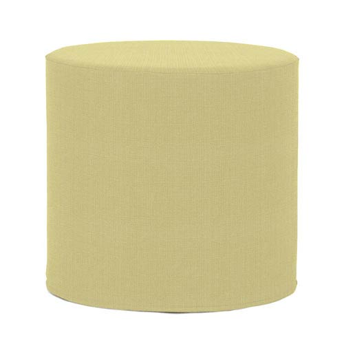 Howard Elliott Collection Sterling Willow Tip Cylinder Ottoman