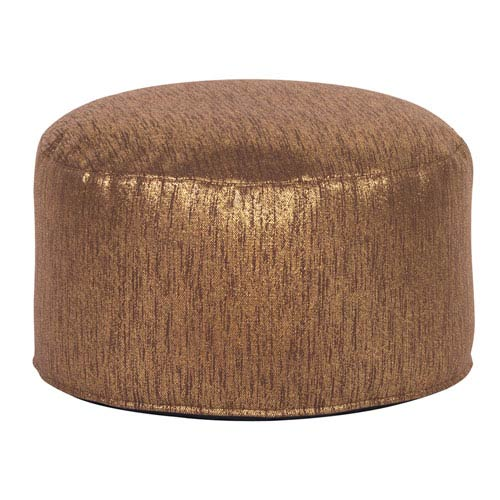 Howard Elliott Collection Glam Chocolate Foot Pouf