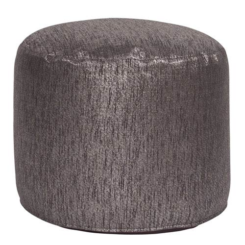 Howard Elliott Collection Glam Zinc Tall Pouf Ottoman
